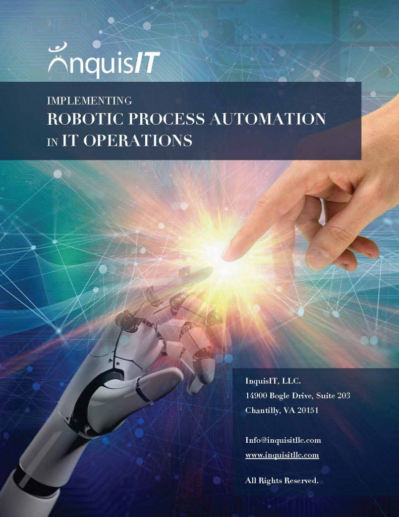 White Paper  Implementing Robotic Process Automation In It Operations